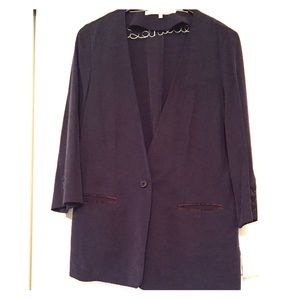 RACHEL Rachel Roy Navy Black Sea 1 Button Blazer